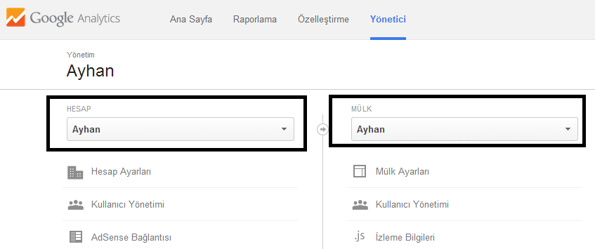 google-analytics-hesap-ve-mulk