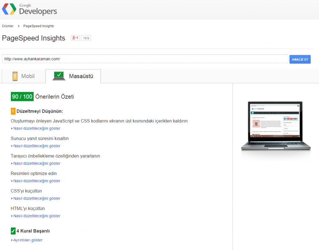 google-pagespeed-sayfa-hizi