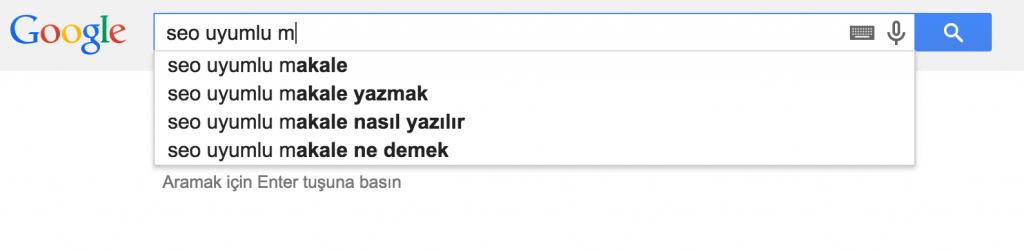 google-onerileri