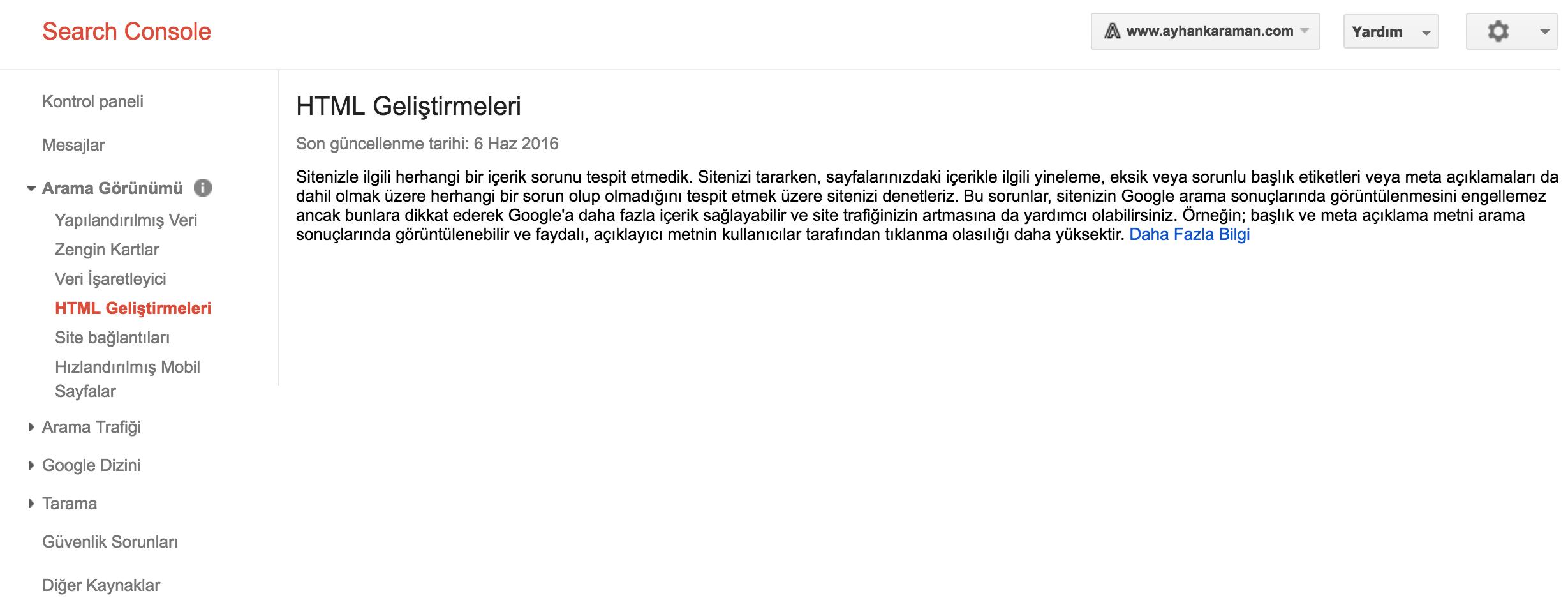 html-gelistirmeleri