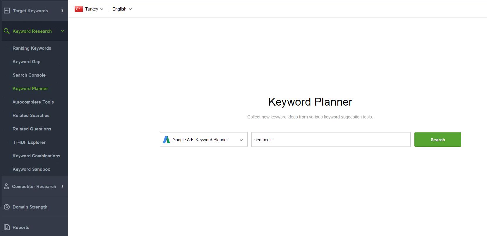 ADS Anahtar kelime Aracı